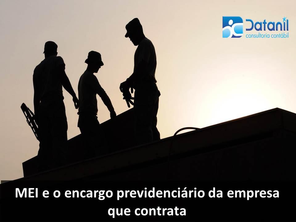 MEI E O Encargo Previdenciário Da Empresa Que O Contrata