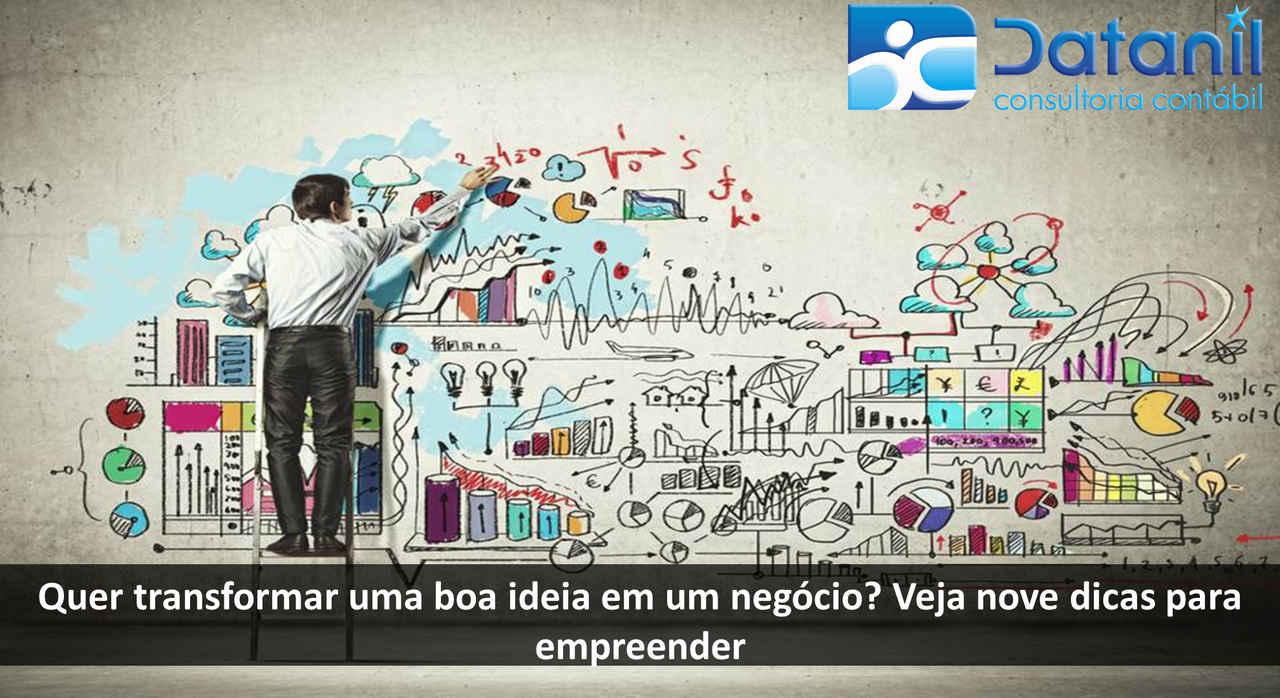 Quer Transformar Uma Boa Ideia Em Um Negócio? Veja Nove Dicas Para Empreender