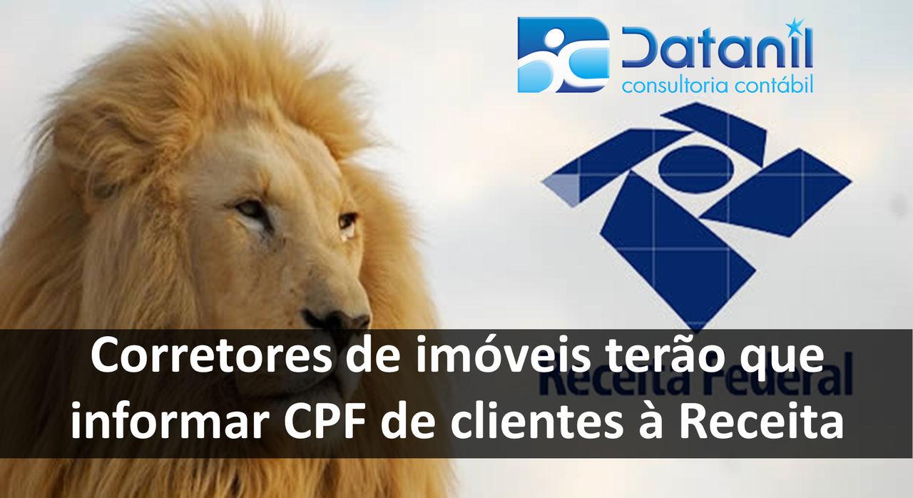 Corretores De Imóveis Terão Que Informar CPF De Clientes à Receita