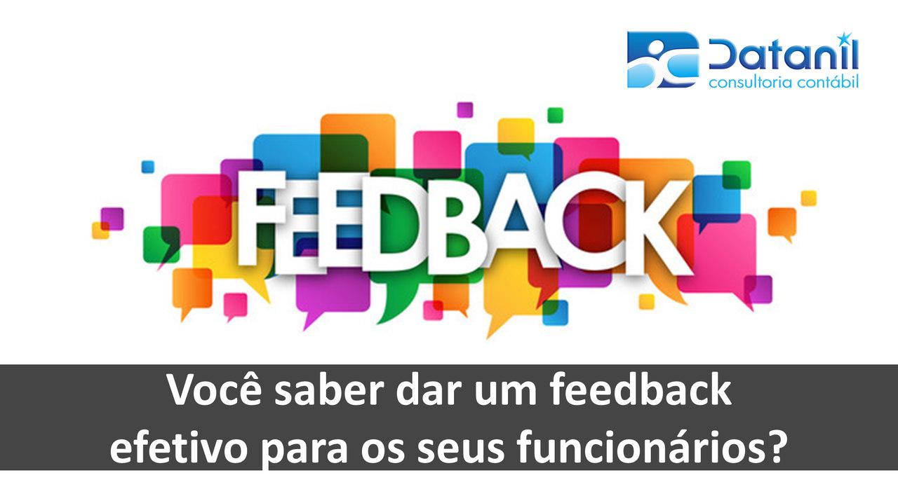 Você Saber Dar Um Feedback Efetivo Para Os Seus Funcionários?