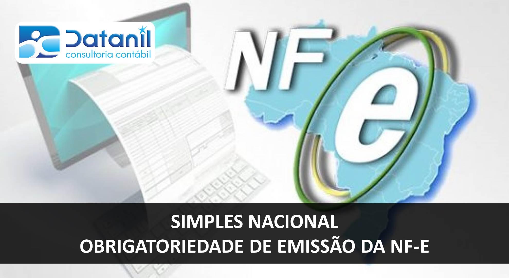 Simples Nacional – Obrigatoriedade De Emissão Da NF E