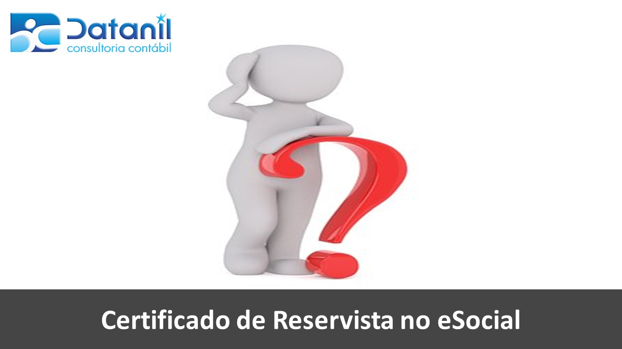 Certificado De Reservista No ESocial