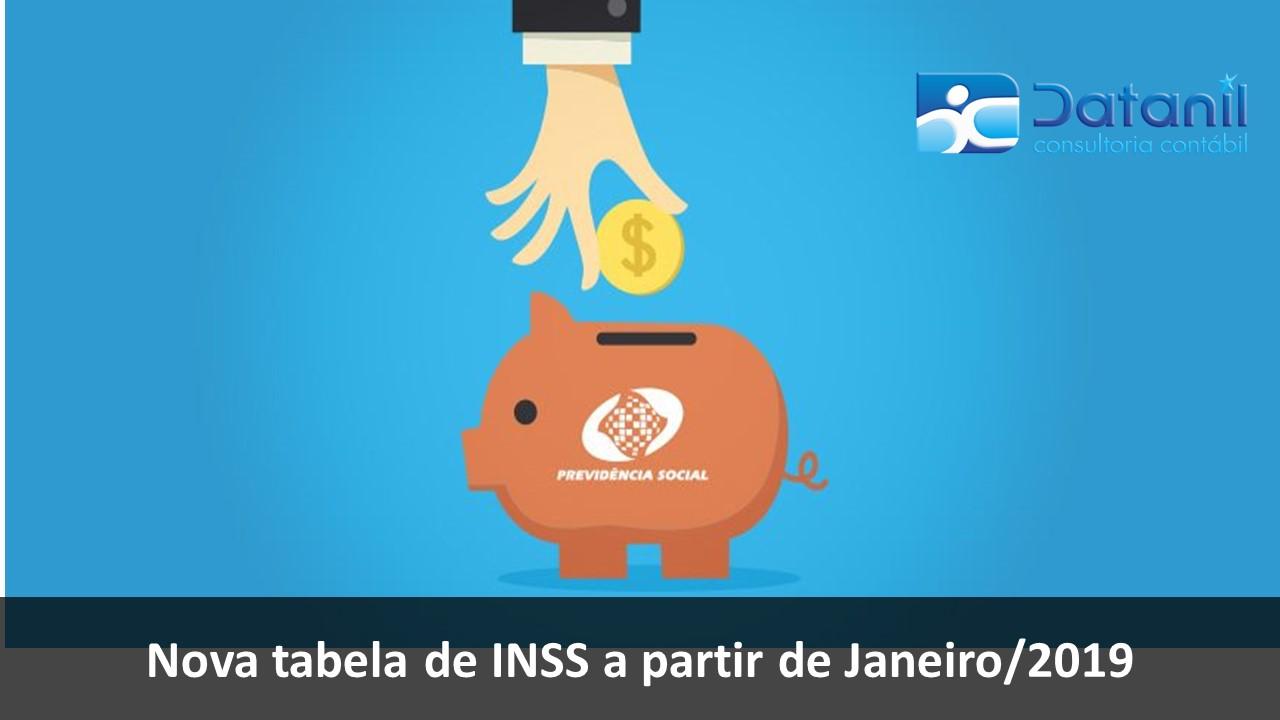 Nova Tabela De INSS A Partir De Janeiro/2019