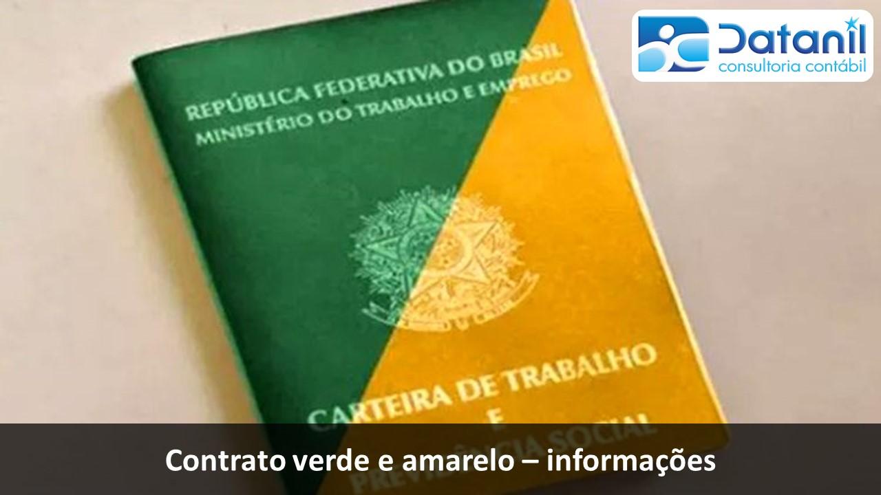 Contrato Verde E Amarelo – Informações
