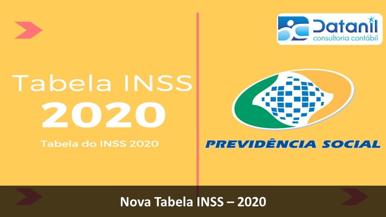 Novas Tabelas De INSS Para 2020