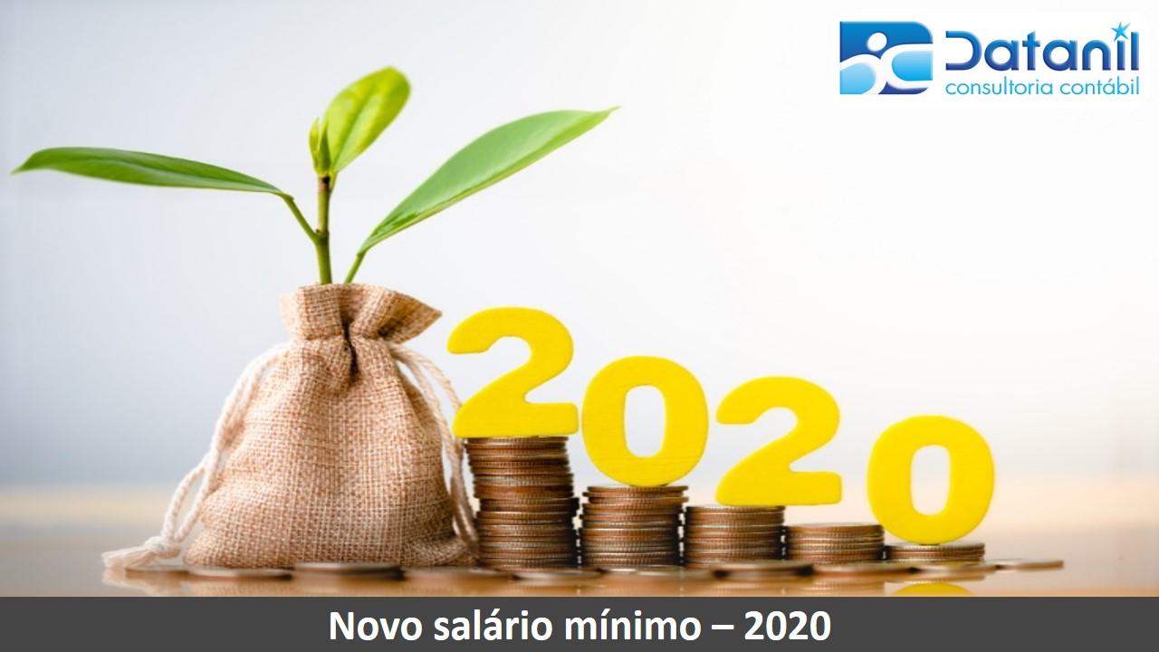 Novo Salário Mínimo – 2020