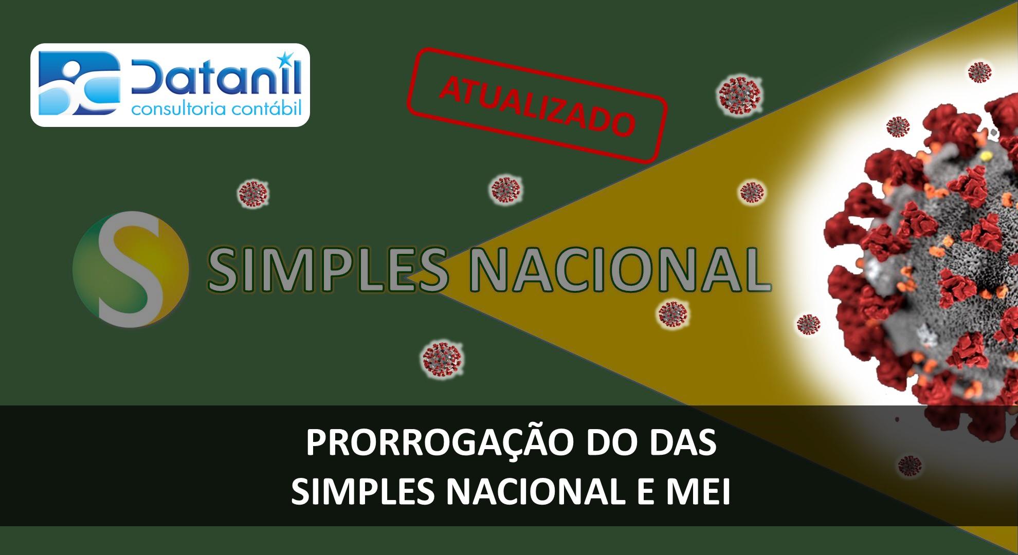 Prorrogação Do DAS – Simples Nacional E MEI   ATUALIZAÇÃO ICMS/ISS