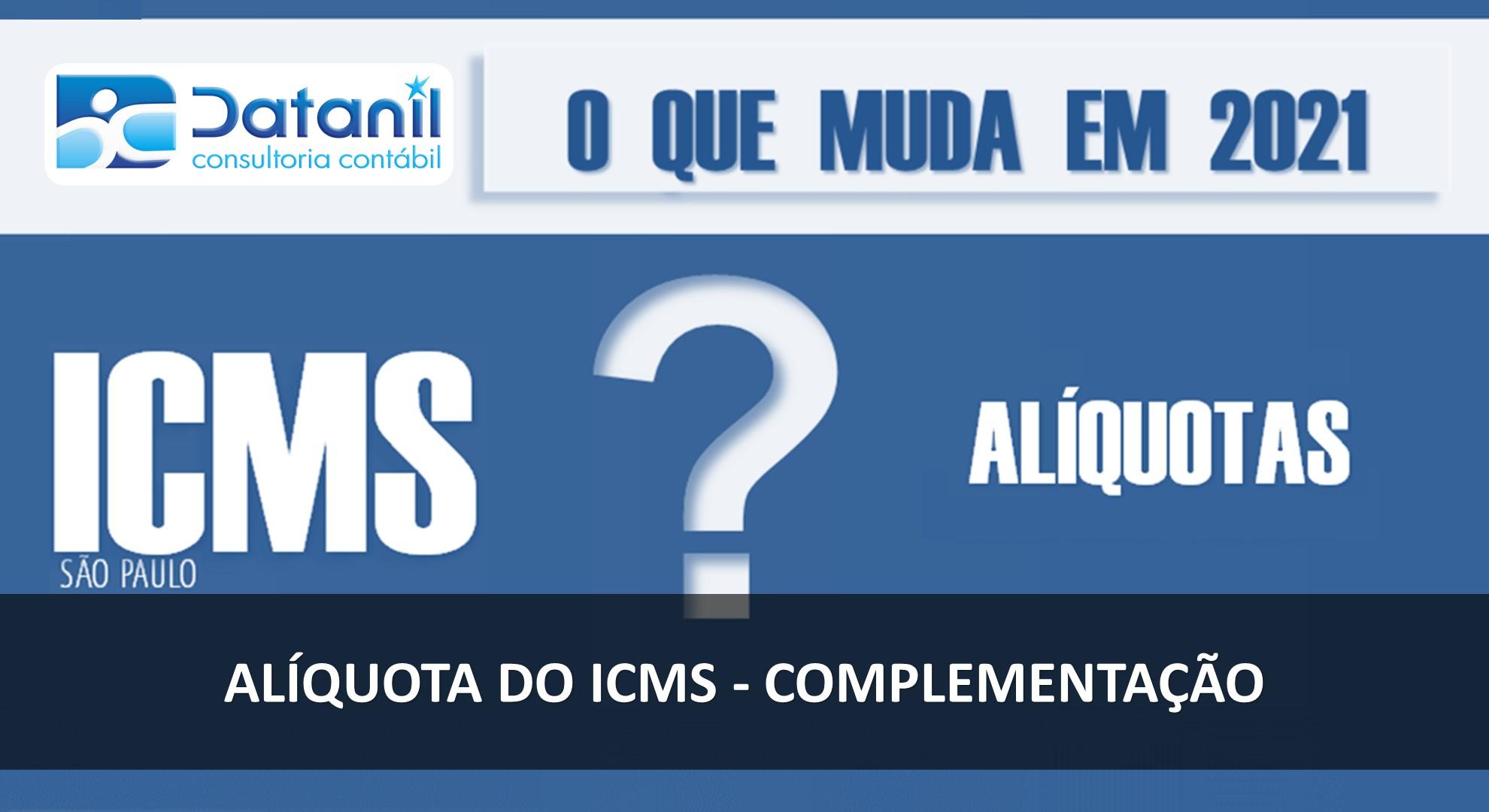 Alíquota Do ICMS – Complementação