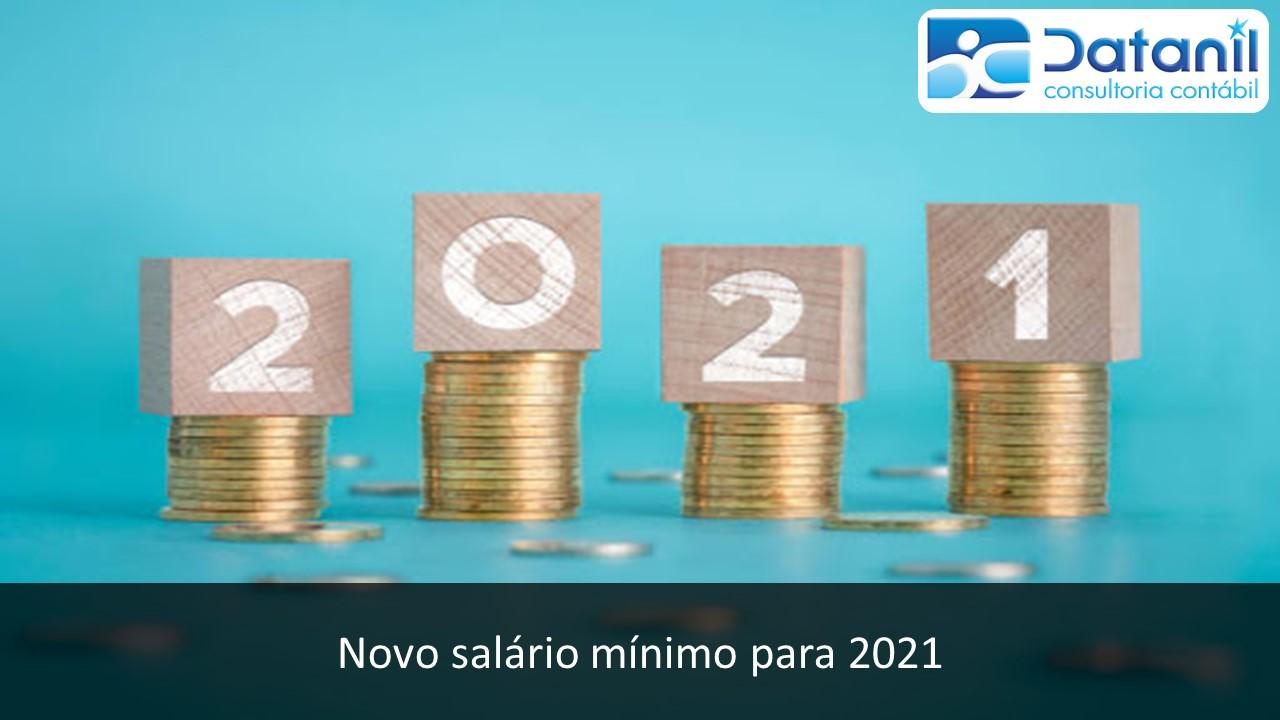 Novo Salário Mínimo Para 2021